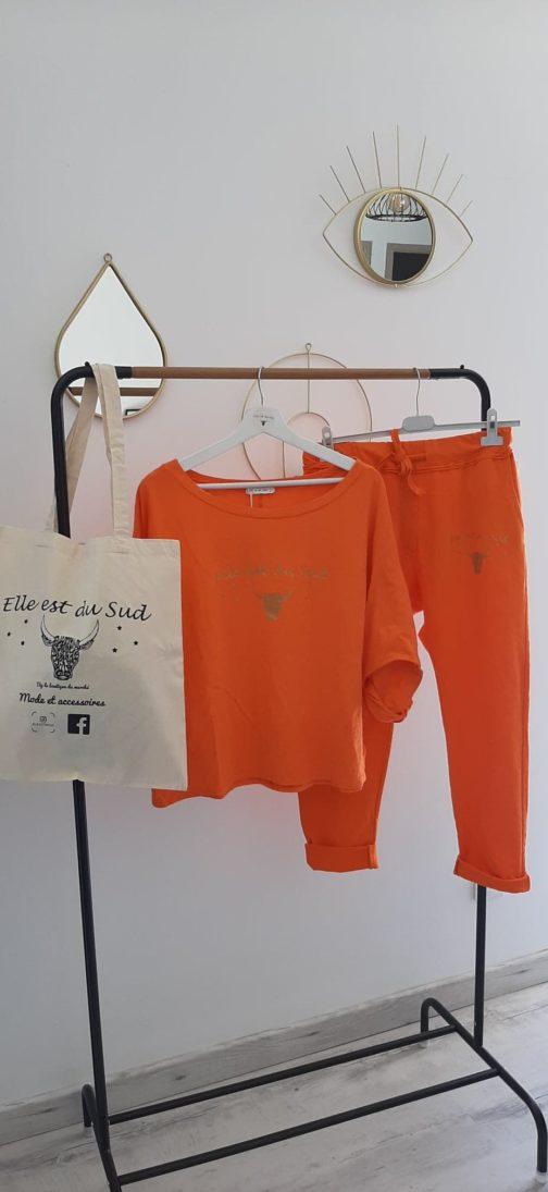 Pantalon orange Elle est du Sud
