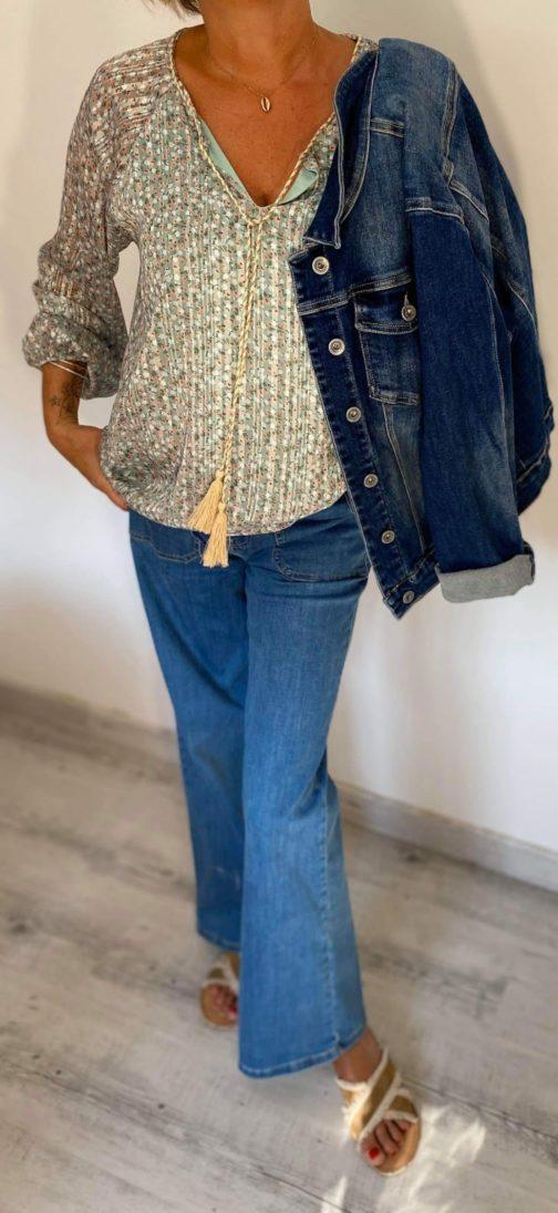 Jeans Nina Carter, tunique, blouson jeans used