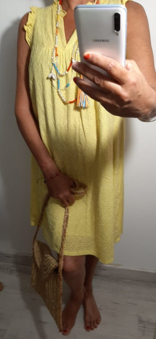 Robe broderie bi-matière 3 coloris par Elle est du Sud