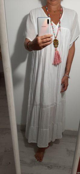 Robe longue bohème blanche par Elle est du Sud