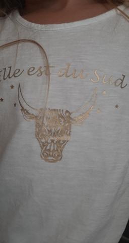 Tee-shirt fillette Elle est du Sud