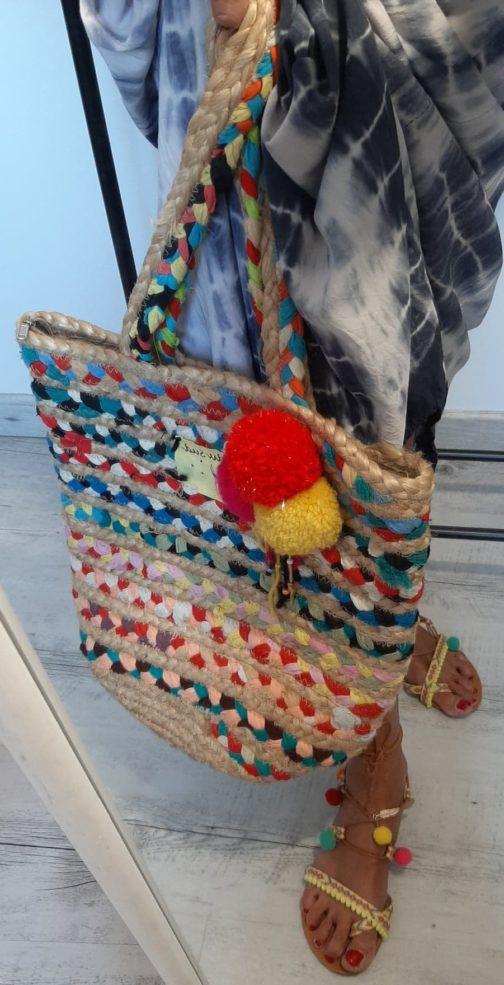 Sac tressé multicolor by Elle est du Sud