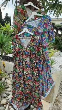 Robe ample multicolor Elle est du Sud